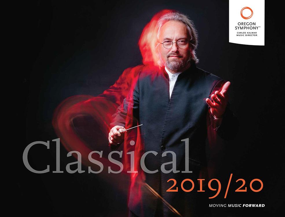 Oregon Symphony 2019/20 season brochure featuring Carlos Kalmar.