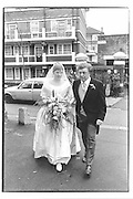Wedding of Daisy to Marcus Wilford Rotheshithe, Richard Goodwin 30/01/82© Copyright Photograph by Dafydd Jones 66 Stockwell Park Rd. London SW9 0DA Tel 020 7733 0108 www.dafjones.com