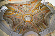 Dome painted ceiling entrance of Grand Master's Palace building, Saint George's Square, Valletta, Malta