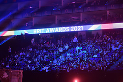 People in the crowd during the Brit Awards 2021 at the O2 Arena, London. Picture date: Tuesday May 11, 2021.