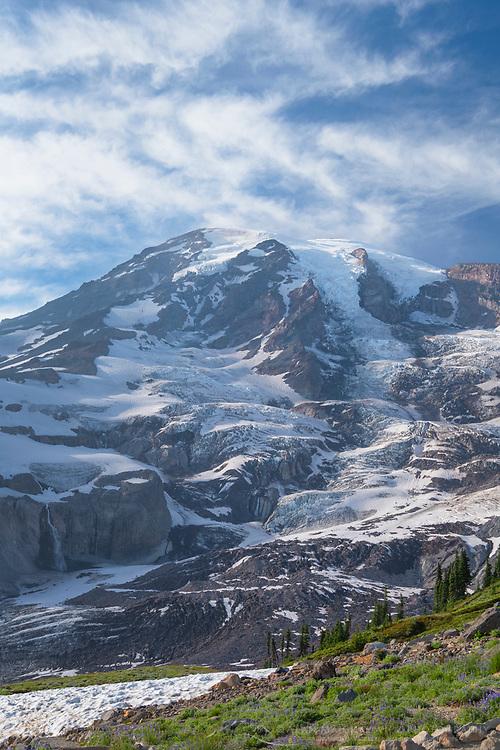 Mount Rainier seen from Skyline Trail of Paradise, Mount  Rainier National Park Washington