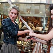 NLD/Amsterdam/20110519 - Opening Zerba Italia Amsterdam, opening door Nikkie Plessen en eigenaresse Norma