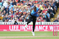 Sussex's Jofra Archer during the Vitality T20 Finals Day semi final 2018 match between Sussex Sharks and Somerset at Edgbaston, Birmingham, United Kingdom on 15 September 2018.