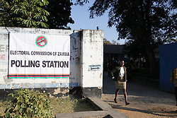 LUSAKA, Aug. 11, 2016 (Xinhua) -- Photo taken on Aug. 11, 2016 shows a polling station in Lusaka, capital of Zambia. Polling started Thursday morning for Zambia' s general elections and referendum. About 6.7 million registered voters are expected to cast their ballots at nearly 7,700 polling stations across the country, which opened from 6 a.m to 6 p.m. (Xinhua/Peng Lijun) (syq) (Credit Image: © Peng Lijun/Xinhua via ZUMA Wire)