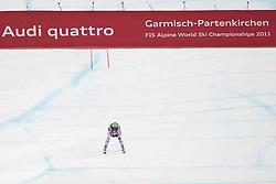 11.02.2011, Kandahar, Garmisch Partenkirchen, GER, FIS Alpin Ski WM 2011, GAP, Damen, Super Combination, im Bild Anna Fenninger (AUT) // Anna Fenninger (AUT)  during ladies Supercombi, Fis Alpine Ski World Championships in Garmisch Partenkirchen, Germany on 11/2/2011. EXPA Pictures © 2011, PhotoCredit: EXPA/ J. Groder