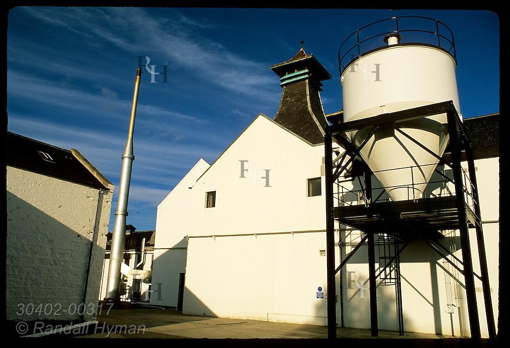 Barley hopper and pagoda chimney at Dalwhinnie Distillery, Scotland's highest (elev 1073'). Scotland