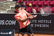 Katarzyna Kawa during the 2019 Swedish Open in Båstad on July 11, 2019. Photo Credit: Katja Boll/EVENTMEDIA.