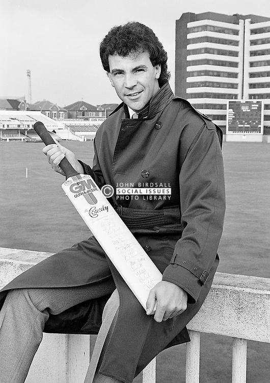 Tim Robinson English cricketer and played for Nottinghamshire from 1978-1999, Trent Bridge November 1985