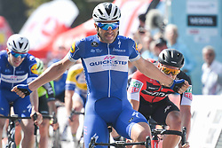 October 9, 2018 - Konya, Turkey - Argentina's Maximiliano Ariel Richeze from Quick - Steps Floors Team, wins the opening stage - the Turkish Airlines 148.4km Konya - Konya, of the 54th Presidential Cycling Tour of Turkey 2018.On Tuesday, October 9, 2018, in Konya, Turkey. (Credit Image: © Artur Widak/NurPhoto via ZUMA Press)