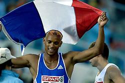 09-08-2006 ATLETIEK: EUROPEES KAMPIOENSSCHAP: GOTHENBORG <br /> Goud voor Marc Raquil (FRA) op de 400 meter<br /> ©2006-WWW.FOTOHOOGENDOORN.NL