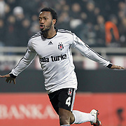 Besiktas's Manuel FERNANDES celebrate his goal during their Turkey Cup quarter final soccer match Besiktas between Gaziantepspor BSB at the Inonu stadium in Istanbul Turkey on Wednesday 02 February 2011. Photo by TURKPIX