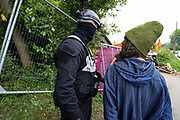The protesters are opposing the eviction and claim HS2 and the bailiffs are acting unlawfully as they have not served the demonstrators with high court eviction notices ordering them to vacate the land. Bailiffs violently opposed environmental peaceful protesters on Tuesday, May 12, 2020. (Photo/ Vudi Xhymshiti)