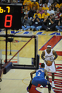 The Washington Wizards defeated the Cleveland Cavaliers 88-87 in Game 5 of the First Round of the NBA Playoffs, April 30, 2008 at Quicken Loans Arena in Cleveland..LeBron James of Cleveland prepares to take the final shot.