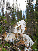 Skalkaho Falls, a remote waterfall near Hamilton, Montana, United States.