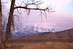 """Teton Sunrise, Grand Teton National Park<br /> <br /> For production prints or stock photos click the Purchase Print/License Photo Button in upper Right; for Fine Art """"Custom Prints"""" contact Daryl - 208-709-3250 or dh@greater-yellowstone.com"""
