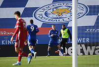Football - 2020 / 2021 Premier League - Leicester City vs Liverpool - King Power Stadium<br /> <br /> Leicester City's Harvey Barnes celebrates scoring his side's third goal.<br /> <br /> COLORSPORT/ASHLEY WESTERN