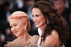 """Dame Helen Mirren and Andie MacDowell attend the screening of """"Les Plus Belles Annees D'Une Vie"""" during the 72nd annual Cannes Film Festival on May 18, 2019 in Cannes, France. Photo by Shootpix/ABACAPRESS.COM"""