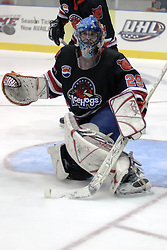 21 October 2006: Frederic Cloutier. Rockford finished ahead of Bloomington 5 goals to 3. The Rockford IceHogs met the Bloomington Prairie Thunder at the U.S. Cellular Coliseum in Bloomington Illinois.<br />