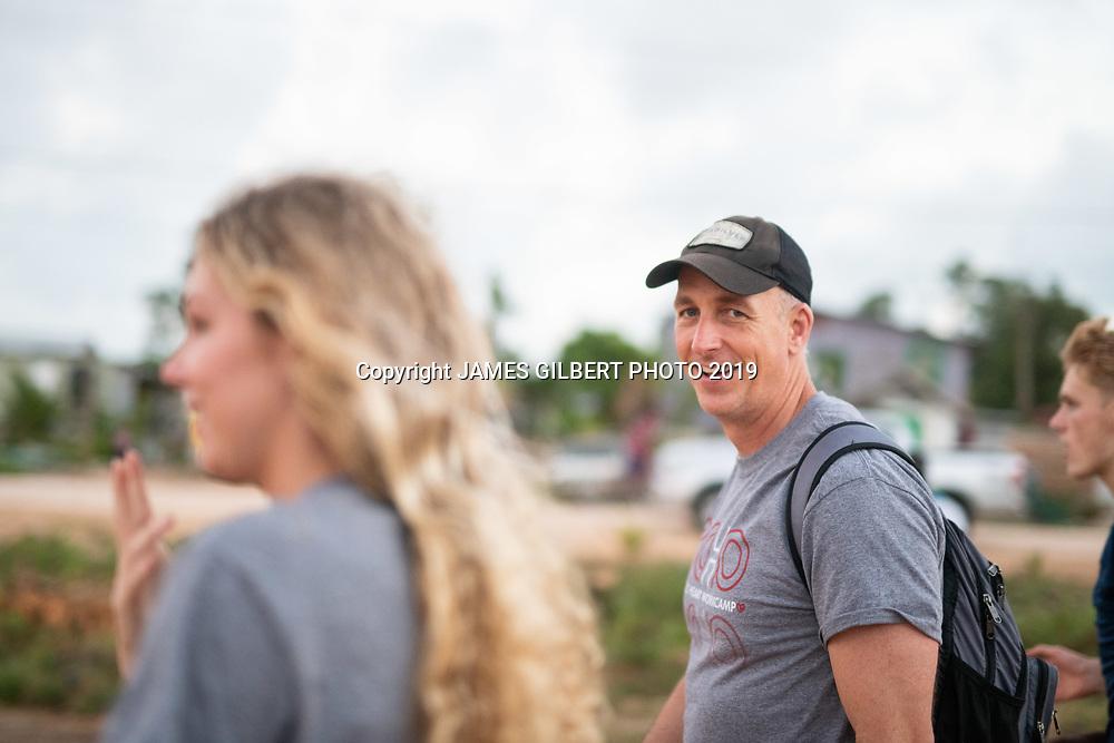 Bryan Ott<br /> Payton Clark <br /> Matt Davis <br /> <br /> St Joe mission trip to Belize 2019. JAMES GILBERT PHOTO 2019