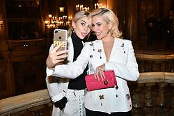 Pixie Lott and Caroline Daur attend the Schiaparelli Haute Couture Spring Summer 2019 show as part of Paris Fashion Week on January 21, 2019 in Paris, France. Photo by Laurent Zabulon/ABACAPRESS.COM