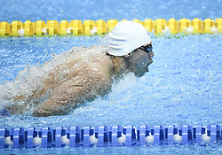 JAKARTA, Aug. 19, 2018  Li Zhuhao of China competes during Men's 200m Butterfly Final in the 18th Asian Games in Jakarta, Indonesia, Aug. 19, 2018. Li won the bronze medal. (Credit Image: © Li Xiang/Xinhua via ZUMA Wire)