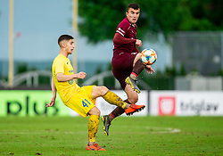 Adam Gnezda Čerin of Domzale vs Egzon Kryeziu of Triglav during football match between NK Triglav Kranj and NK Domzale in 35th Round of Prva liga Telekom Slovenije 2018/19, on May 22nd, 2019, in Sports park Kranj, Slovenia. Photo by Vid Ponikvar / Sportida