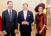 Bezoek van Koning Felipe VI en Koningin Letizia van Spanje aan Nederland.<br /> <br /> Visit of King Felipe VI and Queen Letizia of Spain to the Netherlands.<br /> <br /> Op de foto / On the Photo: Audiëntie op Paleis Noordeinde metKoning Felipe VI en Koningin Letizia van Spanje en Koning Willem Alexander en koningin Maxima  ////  Audience at Noordeinde Palace with King Felipe VI and Queen Letizia of Spain and King Willem Alexander and Maxima queen