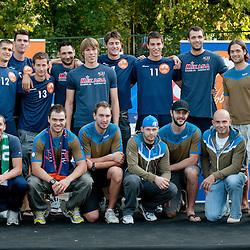 """20110921: SLO - ACH Volley in akcija """"Skupaj za cista pljuca nasega mesta! Tivoli za Ti-Volley!"""