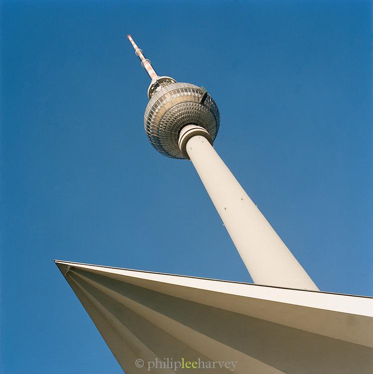 The Fernsehturm Tower, near Alexanderplatz, Berlin, Germany
