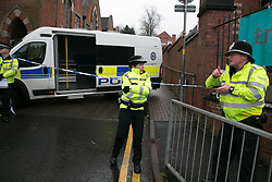 © Licensed to London News Pictures. 04/03/2016. Sutton Coldfield, West Midlands, UK. The scene in Church Hill, Sutton Coldfield where a 41 year old pregnant woman has been stabbed. Photo credit : Dave Warren/LNP