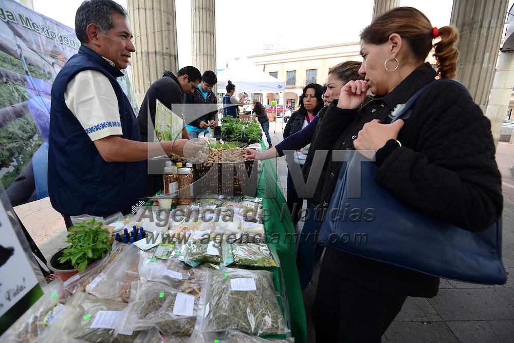 Toluca, México (Abril 22, 2016).- En el marco del Día Mundial de la Tierra alrededor de 30 expositores participaron en la Feria Ambiental, en donde ofrecieron sus productos como alimentos orgánicos, masajes, medicina alternativa, ahorro de energía.  Agencia MVT / Crisanta Espinosa