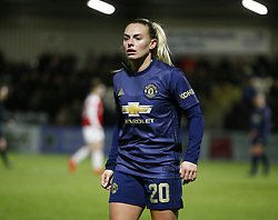 February 7, 2019 - London, England, United Kingdom - Kirsty Smith of Manchester United Women .during FA Continental Tyres Cup Semi-Final match between Arsenal and Manchester United Women FC at Boredom Wood on 7 February 2019 in Borehamwood, England, UK. (Credit Image: © Action Foto Sport/NurPhoto via ZUMA Press)