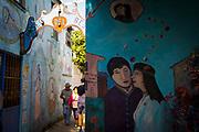 Paseo del Beso (Alley of the Kiss), Bucerias, Banderas Bay, Riviera Nayarit, Nayarit, Mexico