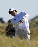 The Alfred Dunhill Golf Championship 2009 at The Old Course, St Andrews, Kingsbarns and Carnoustie.. .   Spannish golfer  Pablo Larrazabal   during the Gale-Force Delayed Third  Round of the Alfred Dunhill Golf Championship...Picture by Mark Davison/ Universal News & Sport