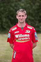 20150626 - OOSTENDE, BELGIUM: Oostende's Niels Coussement pictured during the 2015-2016 season photo shoot of Belgian first league soccer team KV Oostende, Friday 26 June 2015 in Oostende. BELGA PHOTO KURT DESPLENTER