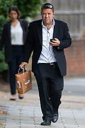 IT consultant Peter Nelson arrives at Isleworth Crown Court in West London where he is accused of using racist language against a female cabin crew member on a flight from the UK to Rio, Brazil, because they wouldn't serve him more alcohol.<br />  London, September 06 2019.