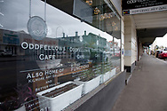 A view of the front of Odd Fellows cafe where a staff member tested positive to Coronavirus during COVID-19 in Kilmore, Australia. An outbreak which started in Chadstone in Melbourne, has spread as far as Benalla. Twenty-eight people linked to the outbreak have now tested positive for COVID-19. There are now two confirmed cases in Kilmore linked with a Melbourne Resident who carried the virus into the town. The person visited the Odd Fellows Cafe in Kilmore which lead to him spreading the virus to a staff member, and a customer. The cafe has been closed for deep cleaning and will remain closed until the 19th October. (Photo by Dave Hewison/Speed Media)