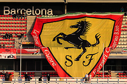 February 28, 2019 - Montmelo, BARCELONA, Spain - Ferrari fans with big banner with Ferrari logo during the Formula 1 2019 Pre-Season Tests at Circuit de Barcelona - Catalunya in Montmelo, Spain on February 28. (Credit Image: © AFP7 via ZUMA Wire)