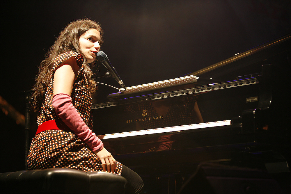 Cimiez-Nice, France. July 25th 2008..Yael Naim performs at the Nice jazz Festival.