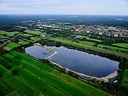 Nederland, Utrecht, Groenekan, 14-09-2019; Natuurgebied Hooge Kampsepad. Hooge Kampse Plas, voormalige zandwinput. Bebouwde kom van De Bilt in de achtergond.<br /> <br /> luchtfoto (toeslag op standard tarieven);<br /> aerial photo (additional fee required);<br /> copyright foto/photo Siebe Swart