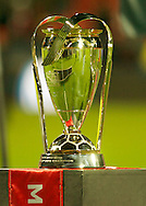 The 2010 MLS Cup shortly before it is handed to the Colorado Rapids. The Rapids defeated FC Dallas 2-1 to win their first MLS league title.