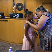 """Aliyah Randle was adopted and changed her name to Rihanna Agnew, March 28, 2018, during a hearing in Judge Karen O'Connor's Maricopa County Juvenile courtroom. But there was a moment, after the judge made it final, that Rihanna bursts into tears. """"I'm never going to see her (birth mom) again, am I?"""" she asks her new mom. You'll see her again if she makes the right choices, Lorraine promises."""