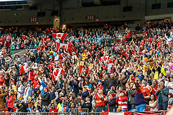 March 10, 2018 - Vancouver, British Columbia, U.S. - VANCOUVER, BC - MARCH 10: Time for a Canada game and the crowd responds at the Canada Sevens held March 10-11, 2018 in BC Place Stadium in Vancouver, BC. (Photo by Allan Hamilton/Icon Sportswire) (Credit Image: © Allan Hamilton/Icon SMI via ZUMA Press)