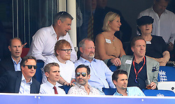 Prince Edward, David Cameron, Ed Sheeran, Matt Bellamy and Damian Lewis in the stands during the ICC Cricket World Cup group stage match at Lord's, London.