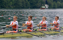 Nedherland's Women' Quadruple Sculls during finals of Rowing World Cup  on May 30, 2010, at Bled's lake, Bled, Slovenia. (Photo by Vid Ponikvar / Sportida)