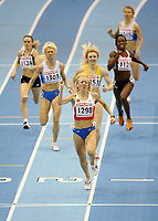 Photo: Rich Eaton.<br /> <br /> EAA European Athletics Indoor Championships, Birmingham 2007. 04/03/2007. Oksana Zbrozhek of Russia wins gold in the final of the womens 800m