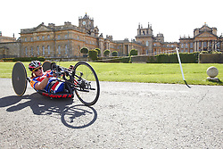 © Licensed to London News Pictures.  18/08/2012. OXFORD, UK. Rachel Morris (pictured), a member of the Team GB Paralympic cycling team, takes part in the 20km time trial during the Bike Blenheim Palace festival in Woodstock, near Oxford.  The annual event is taking place over the weekend of 18th and 19th August. Photo credit :  Cliff Hide/LNP
