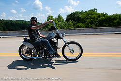 Hawke Lawshe out with friends for a Sunday ride on the beautiful roads near the Tennessee Motorcycles and Music Revival. Hurricane Mills, TN, USA. May 23, 2021. Photography ©2021 Michael Lichter.