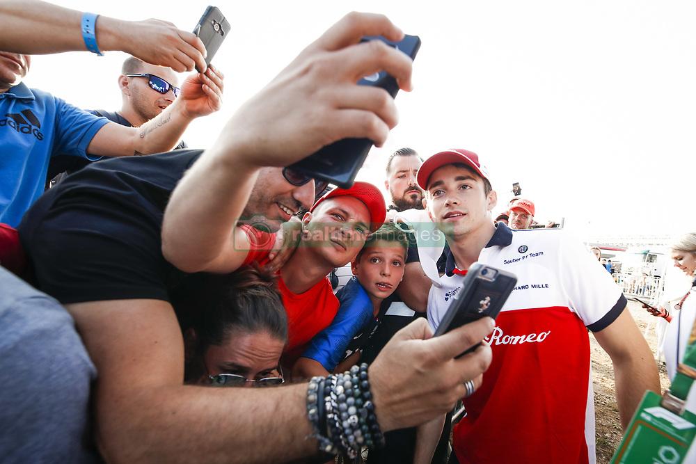 June 23, 2018 - Le Castellet, France - Motorsports: FIA Formula One World Championship 2018, Grand Prix of France, .#16 Charles Leclerc (MCO, Alfa Romeo Sauber F1 Team) (Credit Image: © Hoch Zwei via ZUMA Wire)