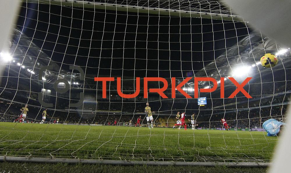 Eskisehirspor's scores during their Turkish superleague soccer match Fenerbahce between Eskisehirspor at the Sukru Saracaoglu stadium in Istanbul Turkey on Saturday 30 November 2014. Photo by Kurtulus YILMAZ/TURKPIX